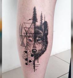 Geometric Wolf Tattoo, Geometric Tattoos Men, Geometric Tattoo Design, Wolf Tattoo Forearm, Wolf Tattoo Sleeve, Sleeve Tattoos, Boy Tattoos, Body Art Tattoos, Small Tattoos
