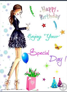 Birthday Ecards for Females - Geburtstag Happy Birthday Ecard, Happy Birthday Wishes Cards, Happy Birthday Friend, Happy Birthday Girls, Birthday Blessings, Happy Birthday Pictures, Birthday Wishes Quotes, Birthday Love, Happy Birthday Female