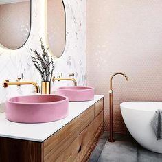 Five Kitchen Trends Of 2019 – Apartment Number 4 - Modern Decor Interior Design, Interior Decorating, Apartments Decorating, Decorating Bedrooms, Bedroom Decor, Decorating Ideas, Toilette Design, Bathroom Paint Colors, Colorful Bathroom