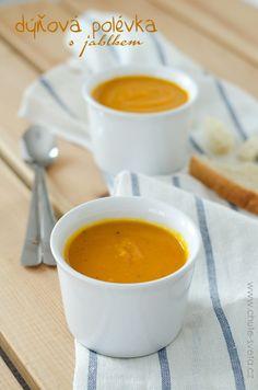 dýňová polévka s jablkem Fondue, Cheese, Tableware, Ethnic Recipes, Soups, Dinnerware, Chowders, Dishes, Soup