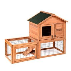 Hoddmimis Pet Supply Wooden Rabbit Cage with Runs * You can find out more details at the link of the image.