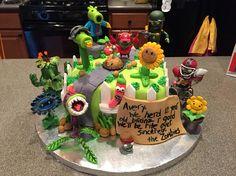 Imagen relacionada Zombie Birthday Cakes, Zombie Birthday Parties, Zombie Party, Happy Birthday Cakes, 8th Birthday, Birthday Ideas, Plants Vs Zombies, Zombies Vs, Cute Cakes
