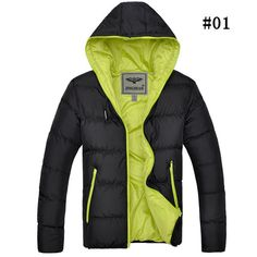 Winter Casual Thicken Warm Solid Color Hooded Padded Jacket For Men - Gchoic.com