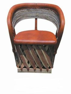Equipale Rustic Mexican Wooden Back Chair
