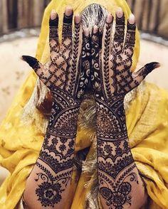 Pakistani Bridal Mehndi Designs for Full Hands
