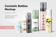 Cosmetic Bottles Mockup Vol 6 2752393 A collection of cosmetic based elements with 6 isolated and customizable elements. PSD files with smart objects.Just in few seconds, present your design in realistic view! Glass Dropper Bottles, Green Glass Bottles, Cosmetics Mockup, Cosmetic Bottles, Mockup Templates, Design Templates, Bottle Mockup, Cosmetic Packaging, Pencil Illustration