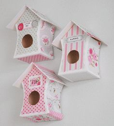Paper Bird Houses for Décor