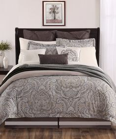 Love this Brown Palazo Nine-Piece Comforter Set by Chic Home Design on #zulily! #zulilyfinds