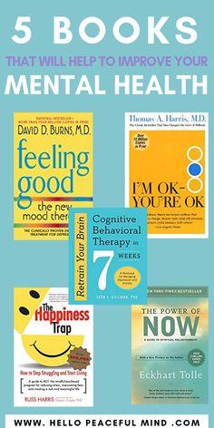 5 Books That Will Help To Improve Your Mental Health - Books health journal health day health wellness Viktor Frankl, Book Club Books, Good Books, Books To Read, Reading Lists, Book Lists, Reading Nook, Best Self Help Books, Personal Development Books