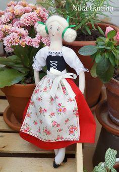 Knit&Sew / Связано&Сшито: Текстильная кукла в национальной немецкой одежде. Фотоотчет о мастер-классе.