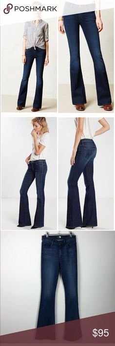 NWOT Anthropologie Mother Cruiser High Rise Flare High Rise Flare Jeans in blue. New without tags. Tag has been marked to prevent returns. MOTHER Jeans Flare & Wide Leg