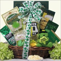 Luck O' The Irish ~ Small: St. Patrick's Day Gourmet Gift Basket - http://mygourmetgifts.com/luck-o-the-irish-small-st-patricks-day-gourmet-gift-basket/