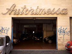 Typography in Rome by Paul Soulellis - Autorimessa