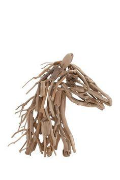 Driftwood Horse Head Figure by UMA Enterprises Inc. on @HauteLook