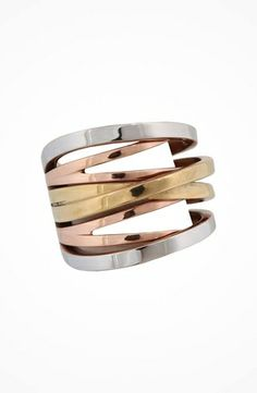 Michael Kors Collection Tri-toned Intertwined Ring #accessories  #jewelry  #rings  https://www.heeyy.com/michael-kors-collection-tri-toned-intertwined-ring-tri-toned/