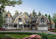 Cooler CEO, President, Owner | Plan W23222JD: Luxury, Northwest, Photo Gallery, Craftsman, Shingle Style, Premium Collection, Country, Corner Lot House Plans Home Designs #thatseasier #luxury