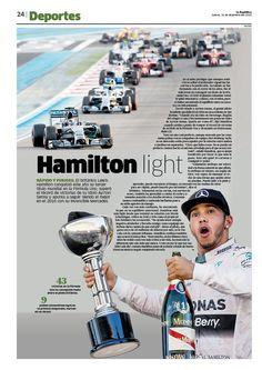 Diseño editorial para la primera página de la sección de Deportes del diario La…