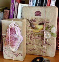 Embalagens feitas com os carimbos da loja www.seriloncrafts.com.br