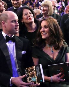 February 2018 ~ TRH Prince William, Duke of Cambridge and Catherine, Duchess of Cambridge are pictured at the BAFTA Awards that was held at Royal Albert Hall in London, England.