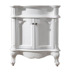 Glamorize your bathroom decor with the fashionable Norhaven cabinet. Finished in a clean white, this turned leg bathroom cabinet features two soft-closing drawers for all of your storage needs.