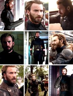 Steve Rogers in the Avengers: Infinity War trailers. He looked gorgeous, as per usual