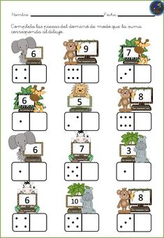 # first class lessons Kindergarten Math Worksheets, Preschool Learning Activities, Teaching Math, Preschool Activities, Kids Learning, Spanish Teaching Resources, Educational Activities, Numbers Preschool, First Grade Math