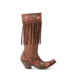 Fringe Floral Cowgirl Boots? Yes please!! @oldgringoboots