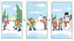sneeuwpop logische volgorde, free printable