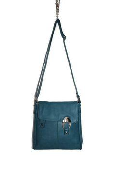 Small Leather Bag - Shoulder Handbag - Teal Blue Bag - Purse - Women bag - Hobo Bag - Spring Trends - Gift Idea. $39.00, via Etsy.