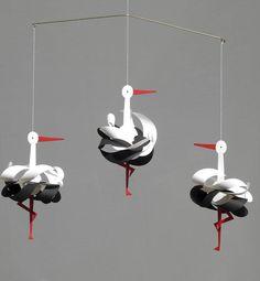 Mobile cigognes Livingly - Mobile bébé design - Balouga