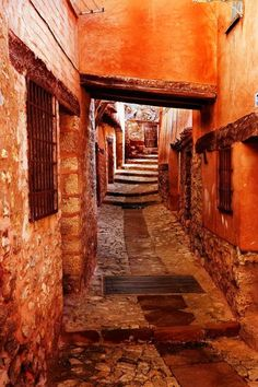 Streets of Albarracín, Teruel, Spain
