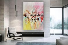Large Modern Wall Art Painting Art Deco Large Abstract image 6 Large Canvas Art, Large Painting, Painting Art, Colorful Artwork, Extra Large Wall Art, Office Wall Art, Modern Wall Decor, Texture Art, Contemporary Paintings
