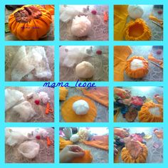Tutorial - How to make fabric pumpkins :) Fabric Pumpkins, Fall Recipes, Witches, Autumn, Decorating, How To Make, Crafts, Diy, Food