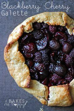 Blackberry Cherry Galette | It Bakes Me Happy
