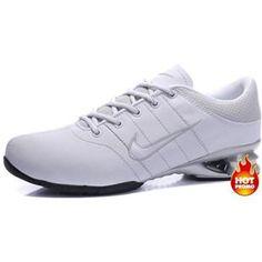 http://www.asneakers4u.com/ Mens Nike Shox R2 White Grey Black
