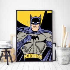 Original Batman Portrait 1960s Customizable Comic Book