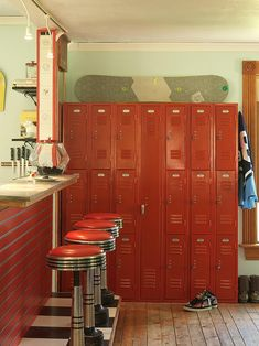 Metal Lockers. Bought some of these today to use in my mudroom.
