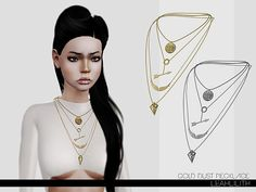 Gold Dust Necklace by Leah Lillith