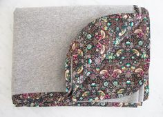 Liberty tana lawn strawberry thief, brown - backing for felted wool blanket