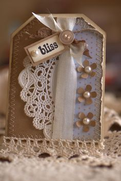Another adorable Tag by Linda Robinson.My Happy Place.: I have something in my pocket. Tag Art, Book Crafts, Paper Crafts, Handmade Gift Tags, Candy Cards, Paper Tags, Vintage Tags, Pretty Cards, Christmas Tag