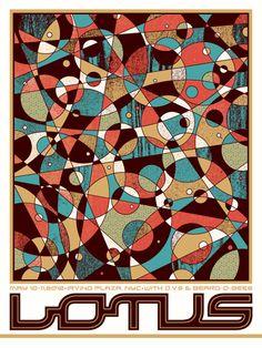 Lotus / D.V.S. / Beard-O-Bees. Poster design: Nate Duval (2012).