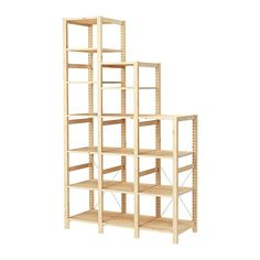 IKEA - IVAR, 3 sections/shelves, Untreated solid pine is a durable natural material that can be painted, oiled or stained according to preference.You can move shelves and adapt spacing to suit your needs.
