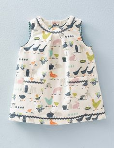 Baby Boden Retro Cord Pinnie in Ecru Farmyard // $34.65