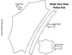 Cómo hacer un sombrero de policía | Pinterest | Hat template, Badges ...