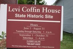Sign at Levi Coffin House