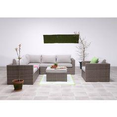 Garden Impressions Altea loungeset 5-delig bruin - incl- lounge fauteuil Wicker