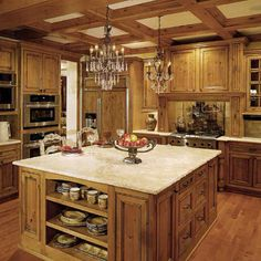 Upscale, homey, country kitchen.