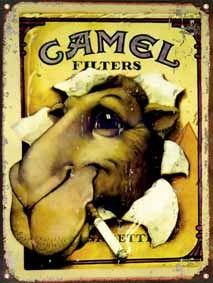 Camel Cigarettes Poster Vintage styled French by thunderclub Vintage Advertising Posters, Old Advertisements, Advertising Signs, Vintage Posters, Pub Vintage, Vintage Metal Signs, Unique Vintage, A4 Poster, Retro Poster