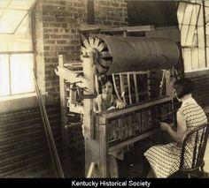 Churchill Weavers | threading the heddles | Berea, Kentucky, U.S.A. | c. 1928