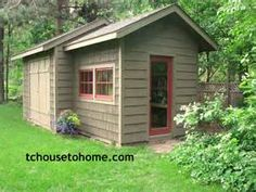 Garden shed design and plans available in this post!